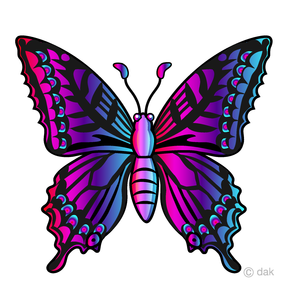 Free Colorful Butterfly Clipart Image|Illustoon.