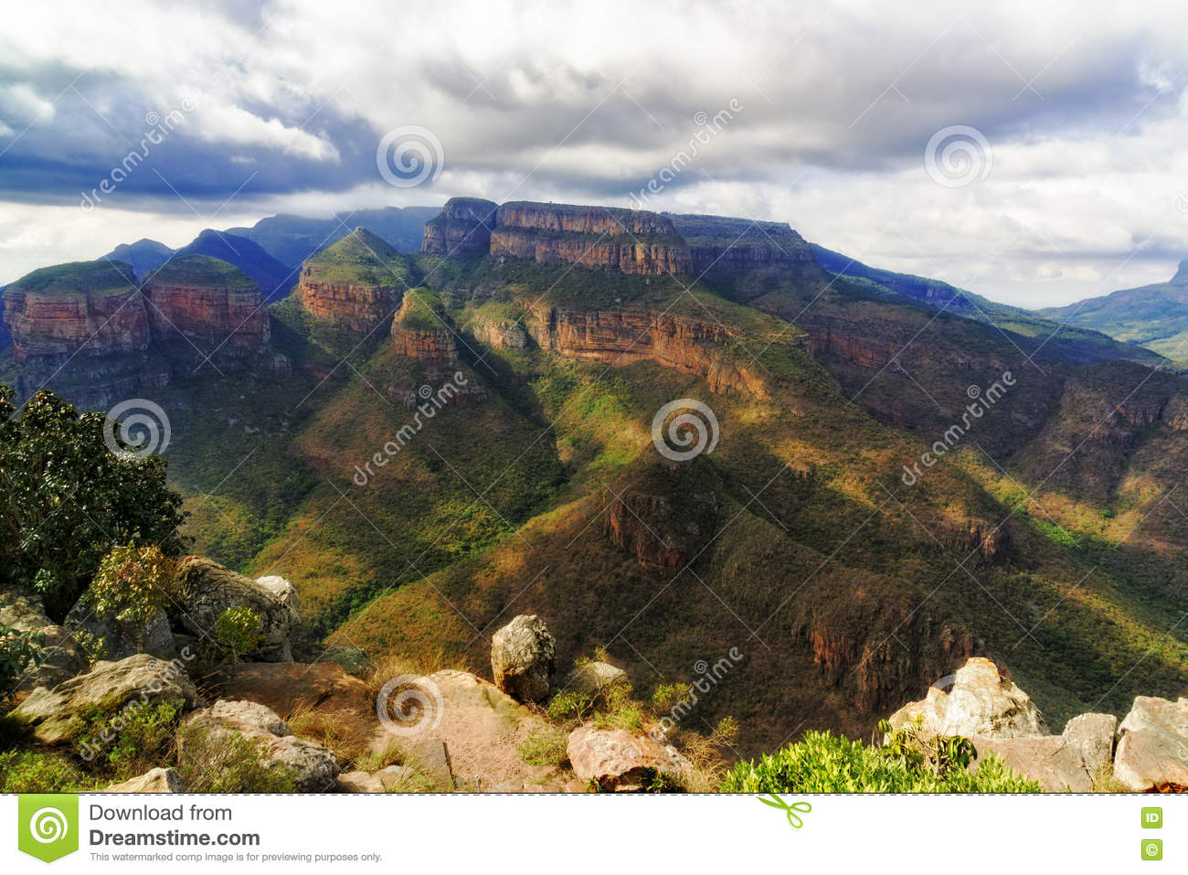 Blyde River Canyon Three Sisters Stock Photo.