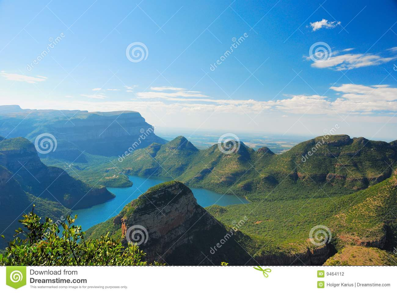 Blyde River Canyon (South Africa) Stock Photography.