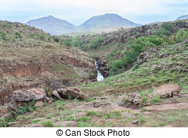 Stock Photography of Waterfall in Drakensberg, Blyde River Canyon.