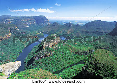 Stock Photo of SOUTH AFRICA MPUMALANGA. BLYDE RIVER CANYON. THREE.