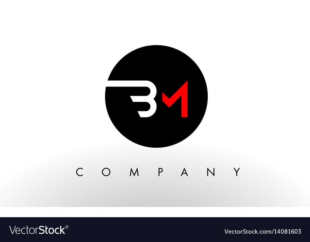 Bm logo letter design.