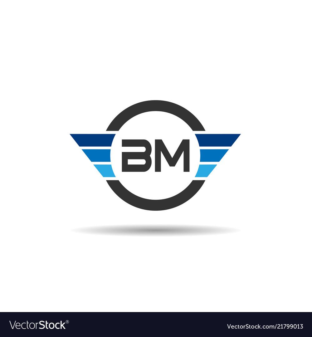Initial letter bm logo template design.