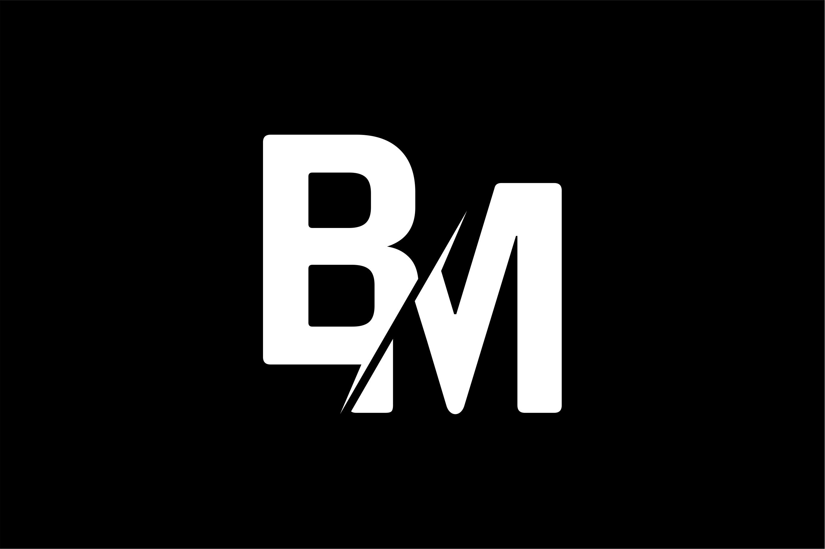 Monogram BM Logo.
