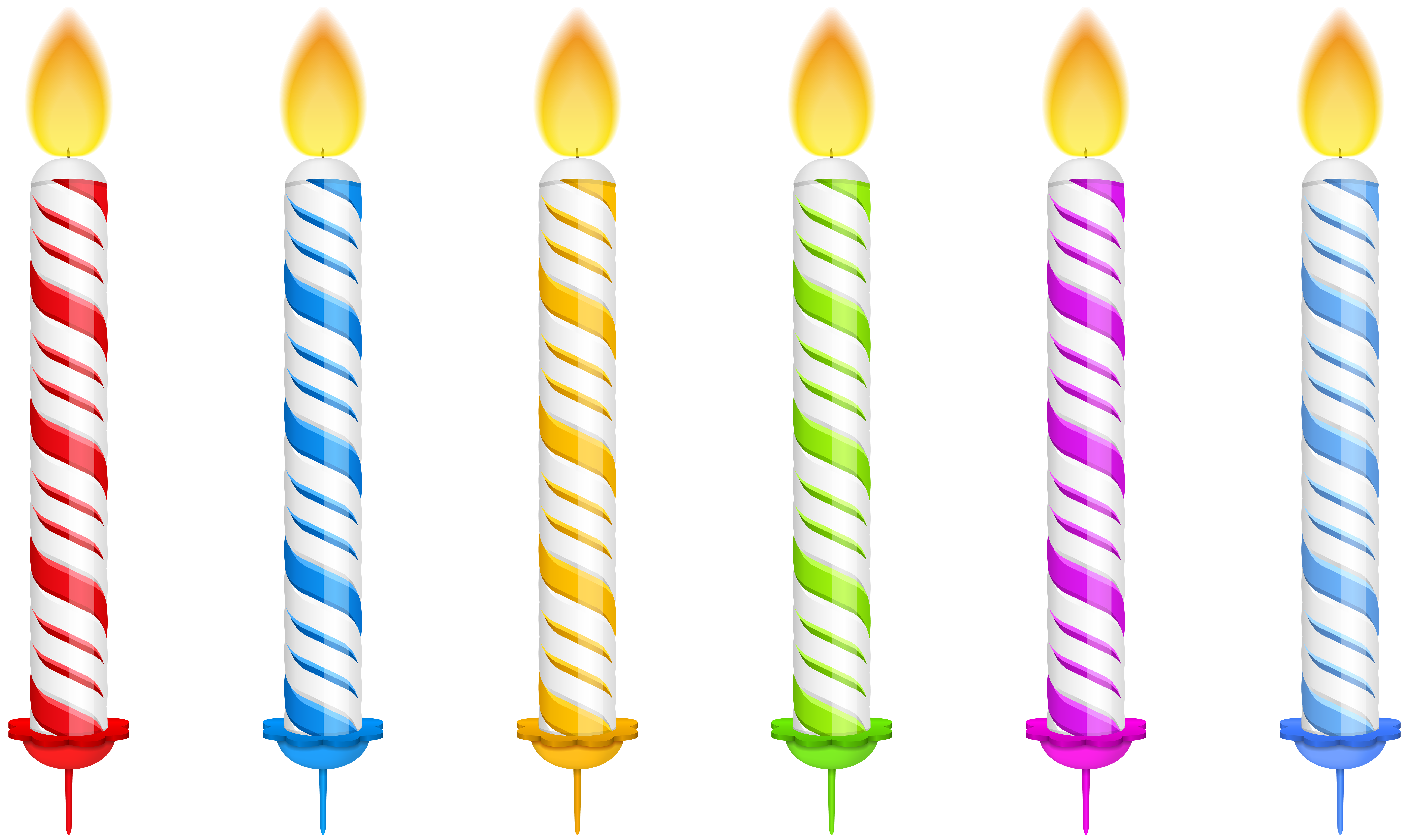 Pictures Of Birthday Candles Clip Art.