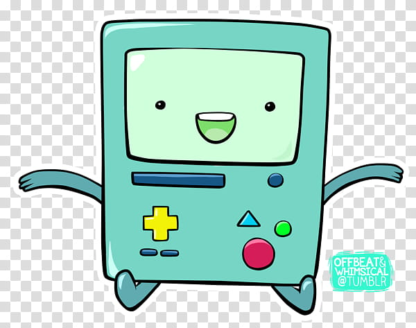 Nuevo de nes de BMO, green handheld game console.