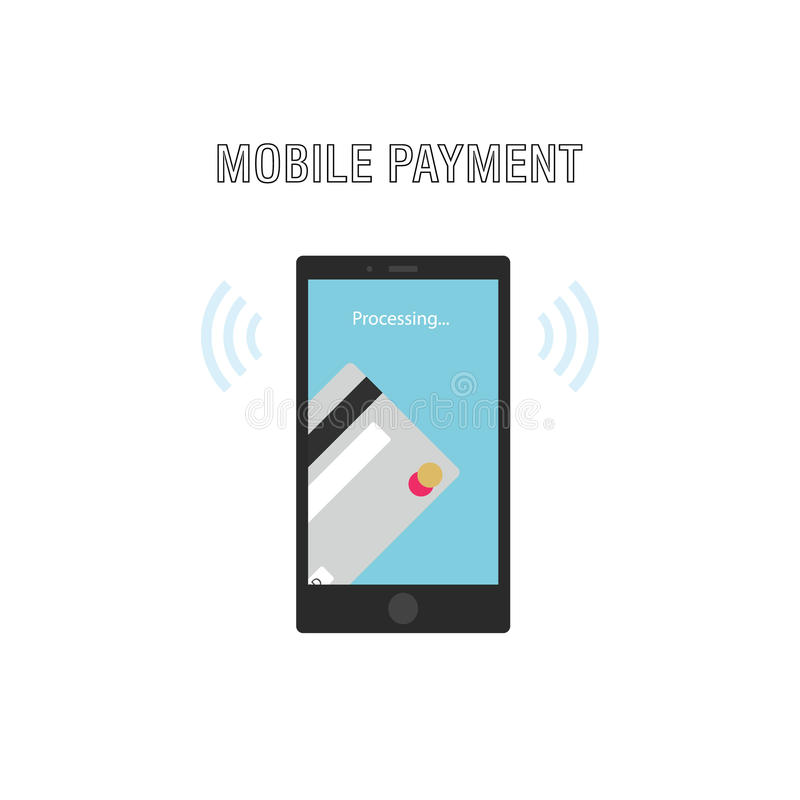 Mobile Payments Concept. Transfer Money From Credit Card.