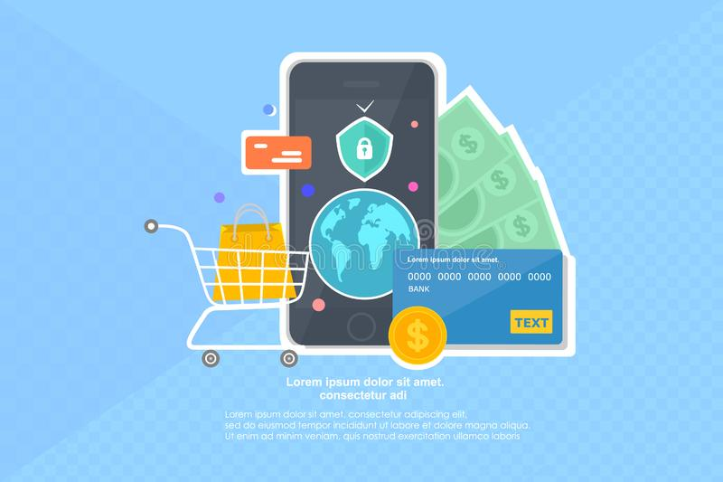 Mobile Phone Payment Stock Illustrations.