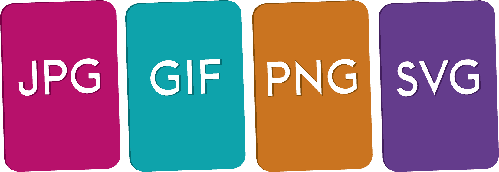 What the difference between a jpg, gif, png and svg?.