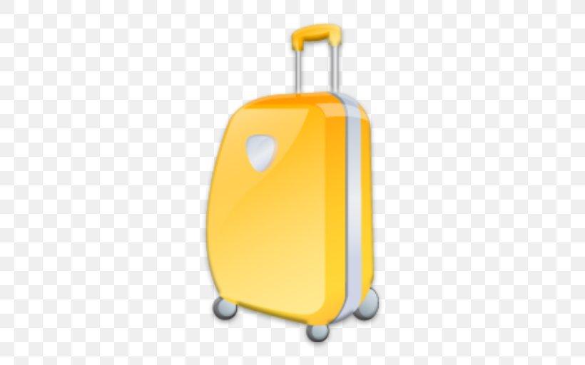 Suitcase, PNG, 512x512px, Suitcase, Bmp File Format, Orange.