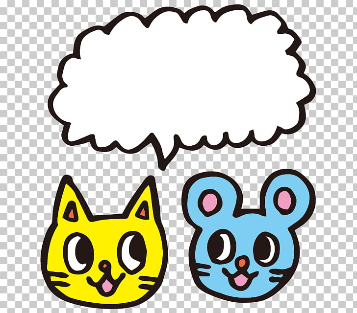 Cat Speech balloon ネズミ , bmp bitmap PNG clipart.