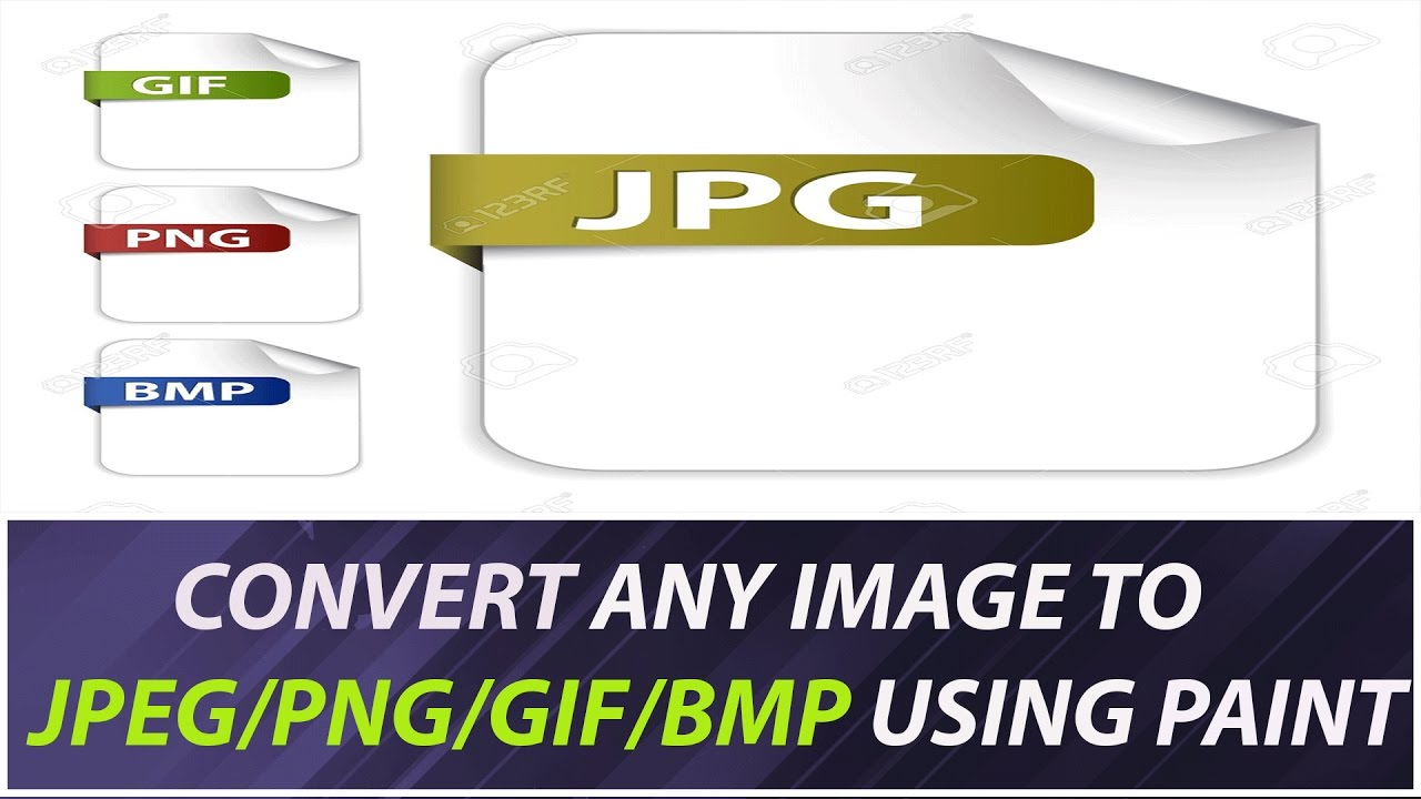 Convert Any image To jpg/png/gif/bmp Using Paint.