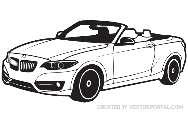 BMW Car Vector Image.