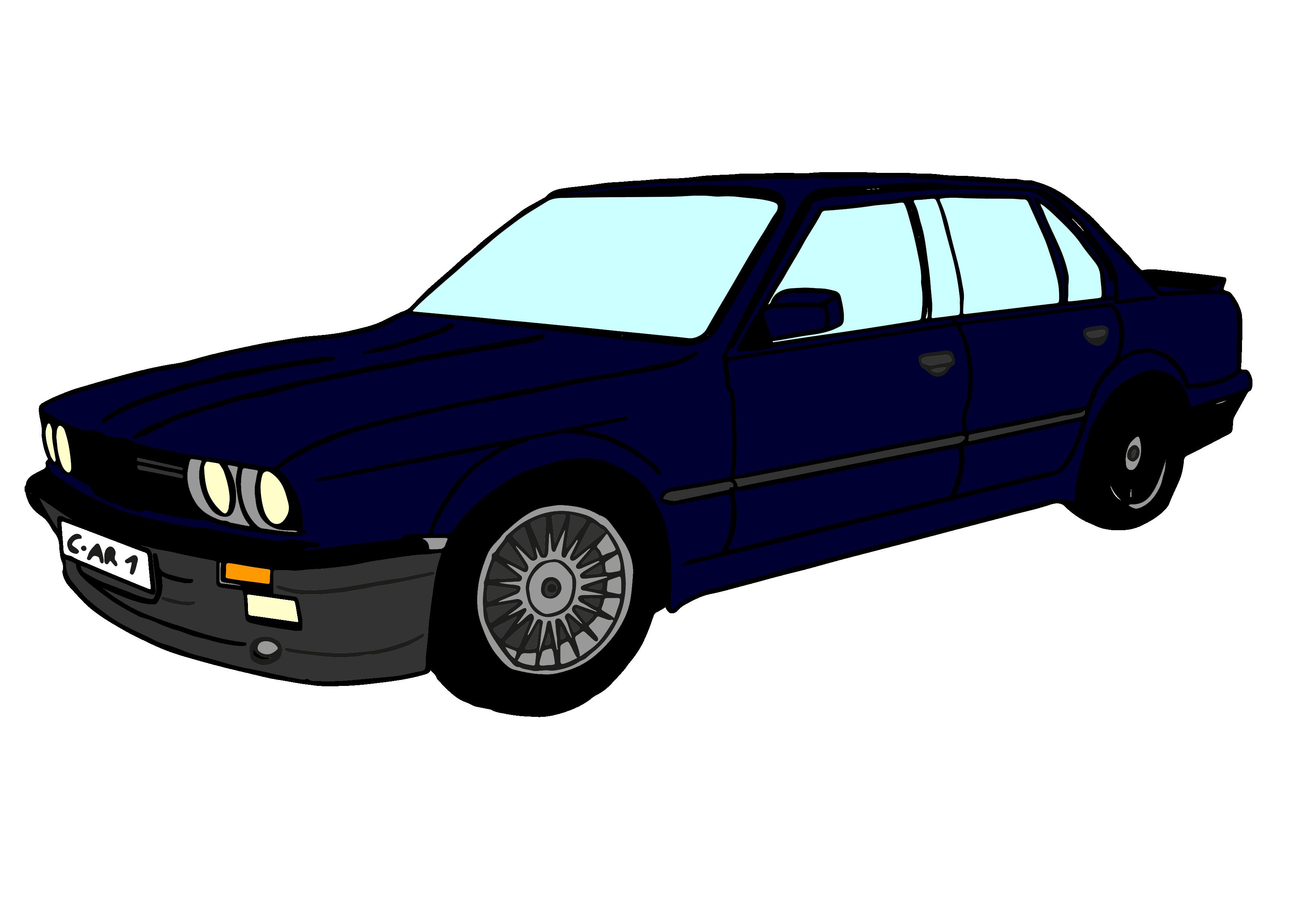 Clipart BMW E34 M5 Bilder Comic.