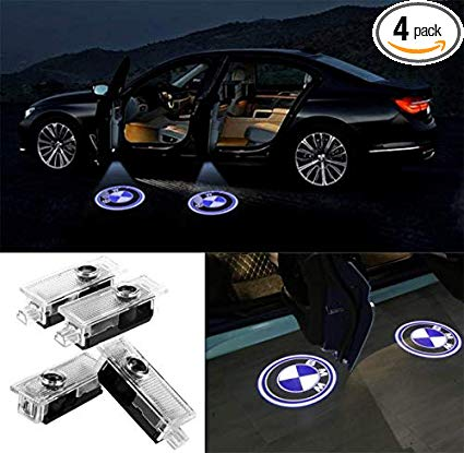 Car LED Door Logo Lights Projector Ghost Light Welcome Lamp for BMW Door  light Accessories Compatible 3/5/6/7/Z/GT Series 4 Pcs.