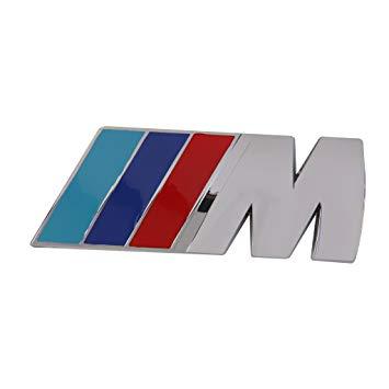 M SPORT 3D Metal Badge Emblem Logo Decal Sticker (Silver).