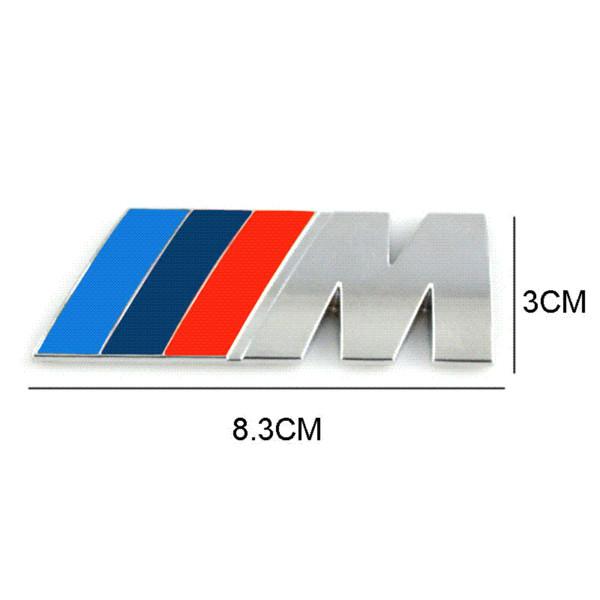 2019 Car Styling Car Decoration Emblem Badge M Logo Metal 3D Car Sticker  For BMW M3 M5 X3 X5 X6 E36 E39 E46 From Factorystore8, $7.66.