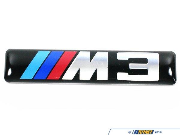 Side Grille Emblem with M3 logo.