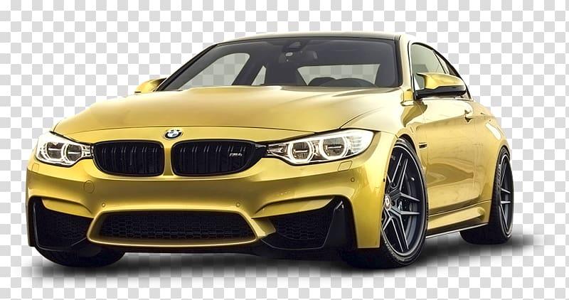 Yellow BMW 3 series F30 coupe illustration, BMW M3 BMW M4.