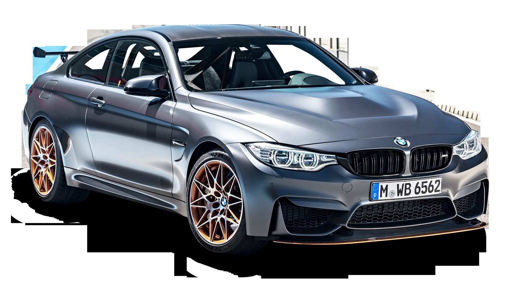 Gray BMW M4 GTS Car PNG Image.
