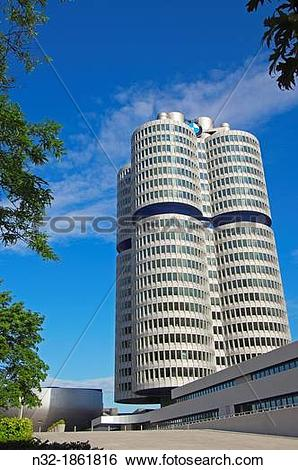 Stock Images of BMW, Munich, BMW Museum, BMW Headquarters, Bavaria.