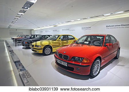"Stock Photograph of ""Old BMW 3 Series models, BMW Museum, Munich."