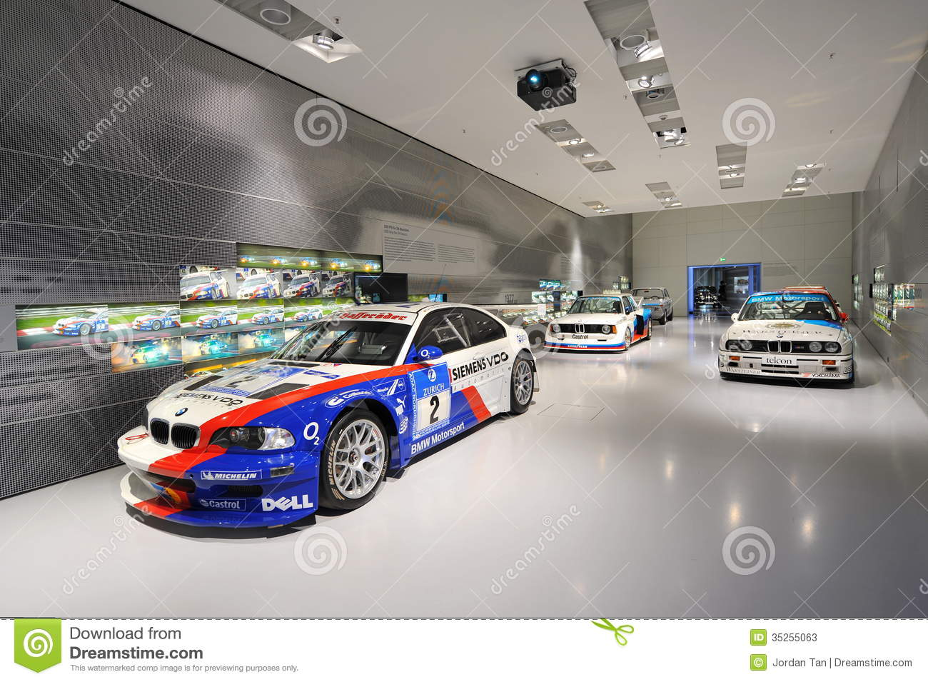 BMW M Competition Cars In The Touring Car Hall Of BMW Museum.