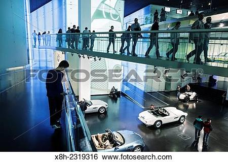 Stock Images of Interior of BMW Museum in Munich Germany. x8h.