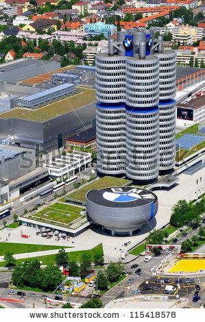 Munich Germany June 12 Bmw Building Stock Photo 96421493.