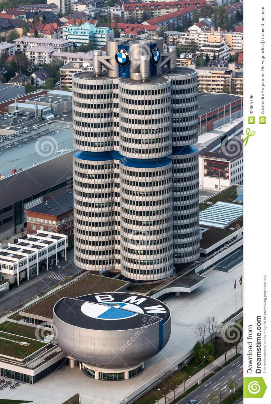 BMW Headquarters Munich Editorial Image.