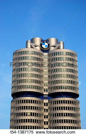 Stock Image of BMW Tower in Munich t54.