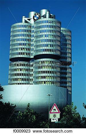 Stock Photo of Bavaria, Munchen, the BMW company headquarters.