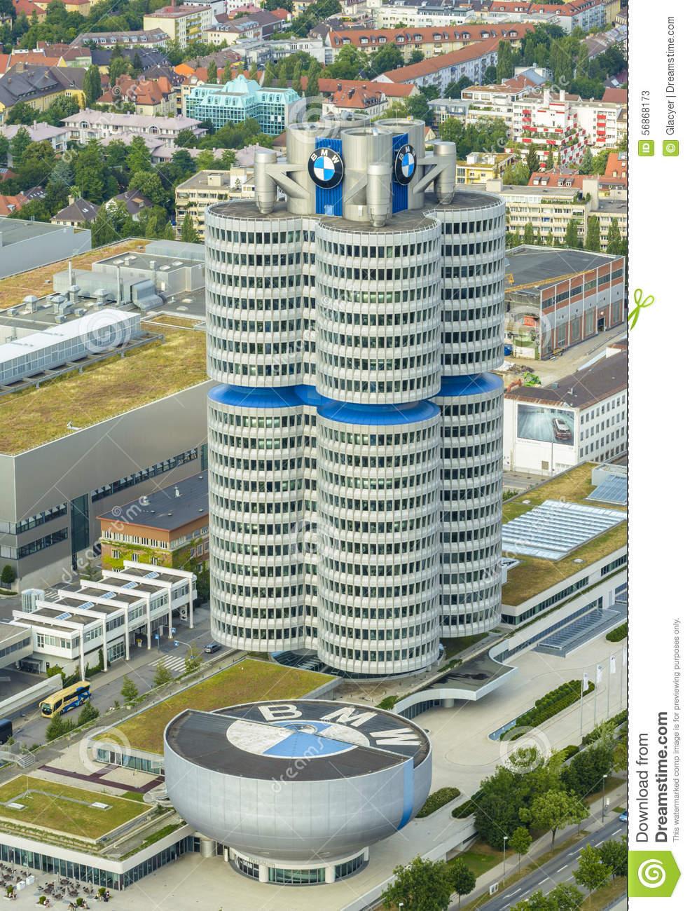 BMW Building Editorial Stock Photo.