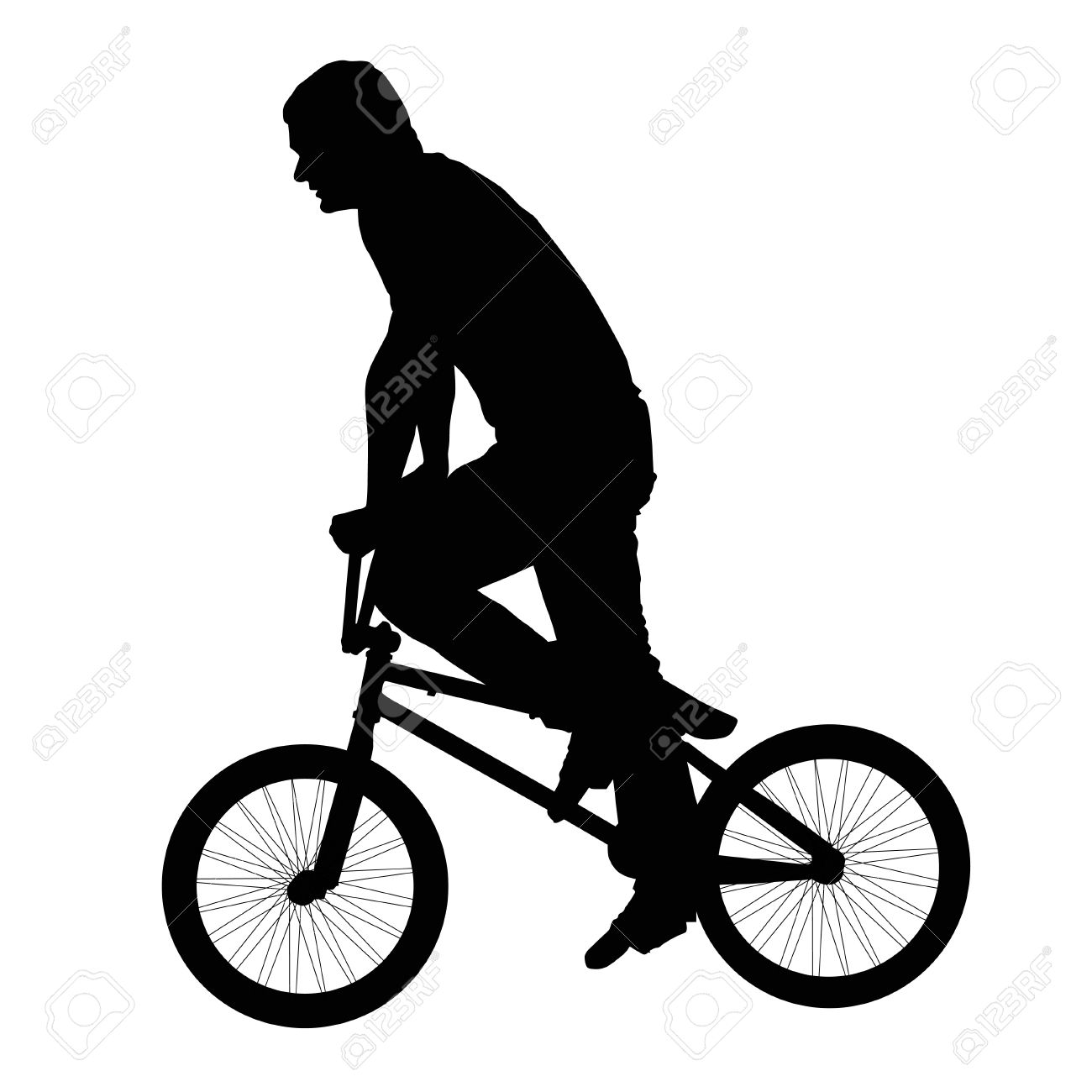 Bmx bicycle clipart black and white.