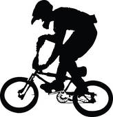 Bmx racing clip art.