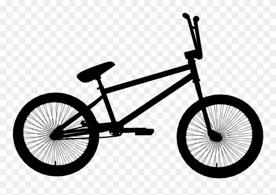 Black Bmx Bicycle Clipart Png.