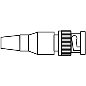 BNC Male Connector Side View clipart, cliparts of BNC Male.