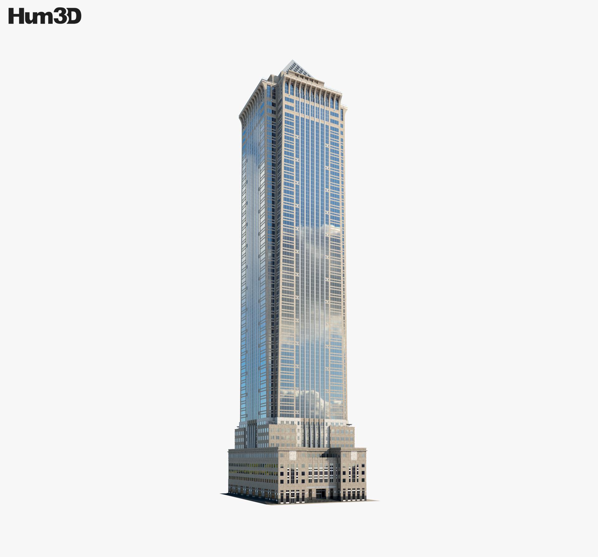 Servcorp BNY Mellon Center 3D model.