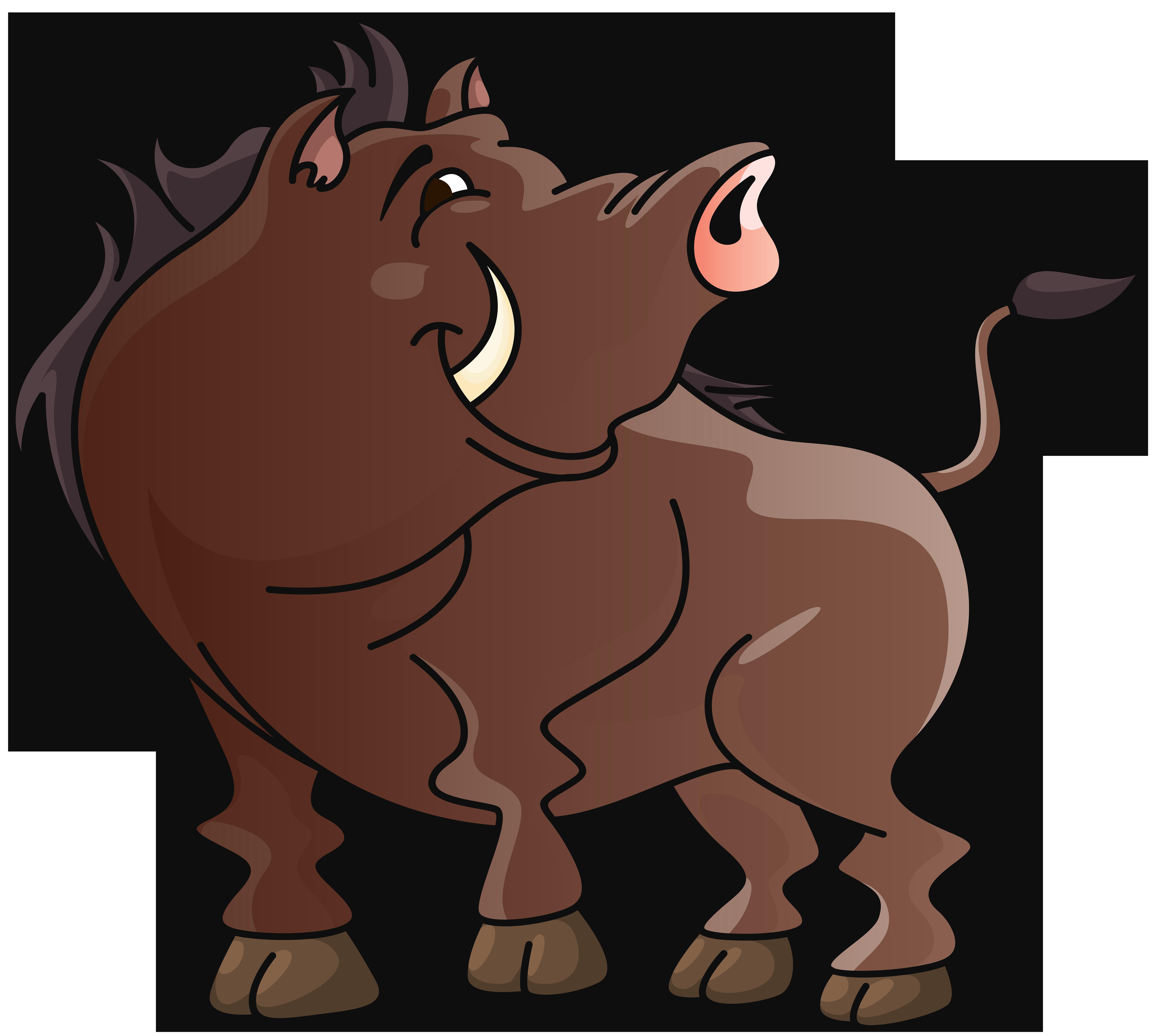 Boar Cartoon PNG Clipart Image.