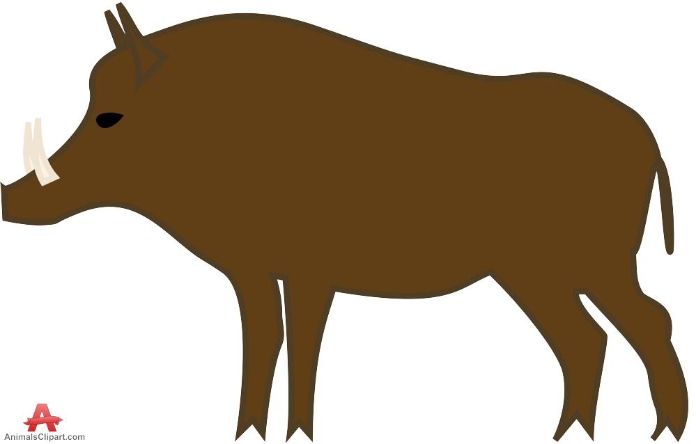 Brown Boar Clipart.