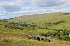 Mallerstang Valley From Slopes Of Wild Boar Fell Stock Photo.