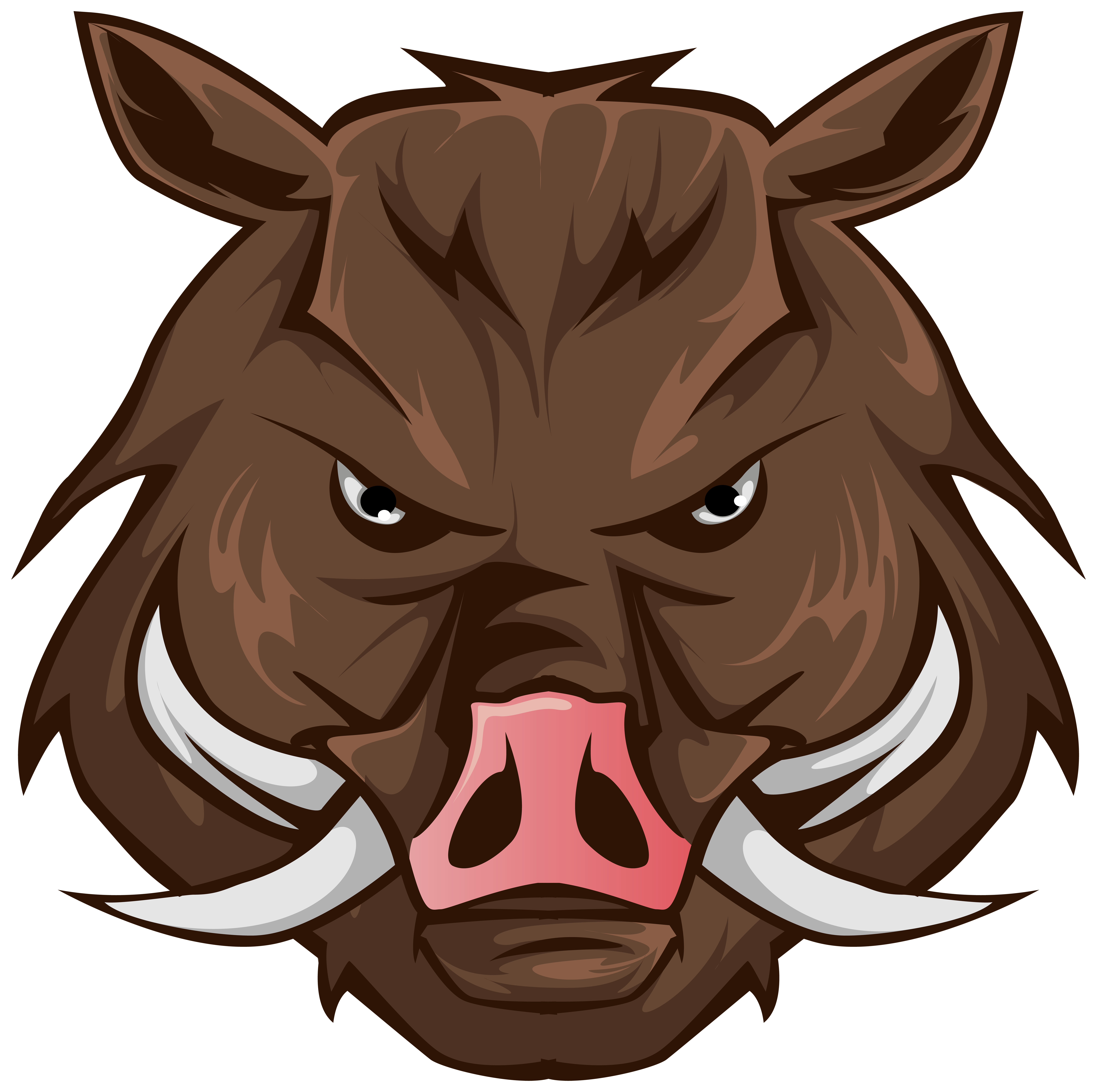 Boar Head PNG Clipart Image.