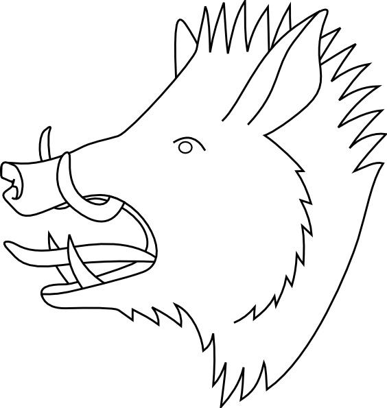 Boars Head Clip Art.