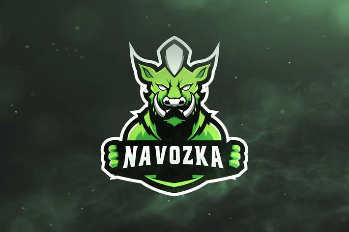 Wild Boar Sport and Esports Logos by ovozdigital on Envato Elements.