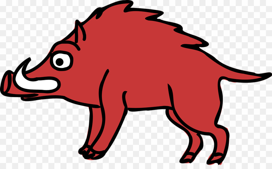 Cartoon Boar PNG Wild Boar Common Warthog Clipart download.