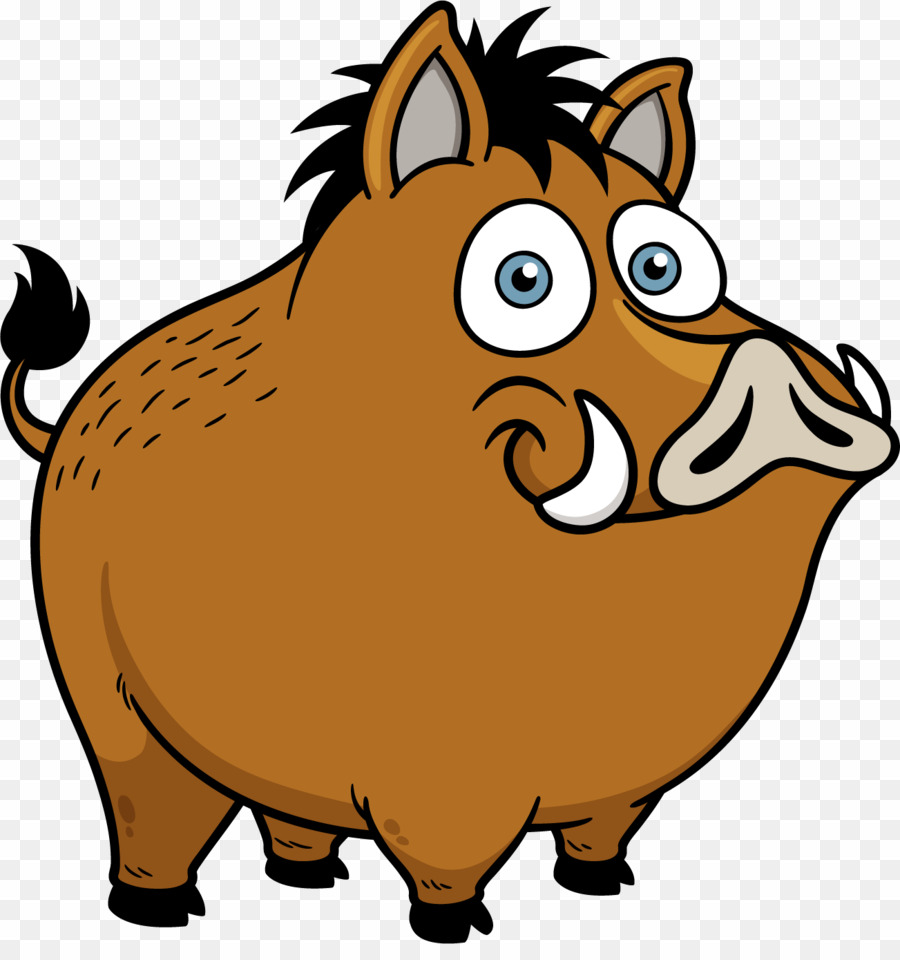 Wild Pig Cartoon PNG Wild Boar Stock Photography Clipart download.