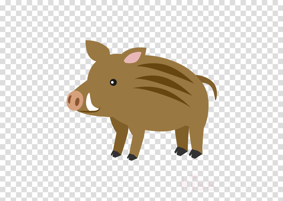 Japanese New Year Card Boar clipart.