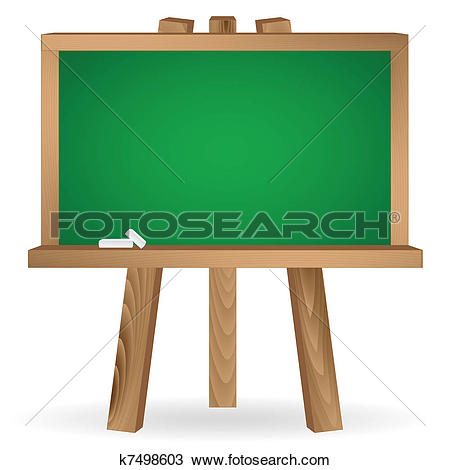 Clip Art of Chalk Board k4086562.