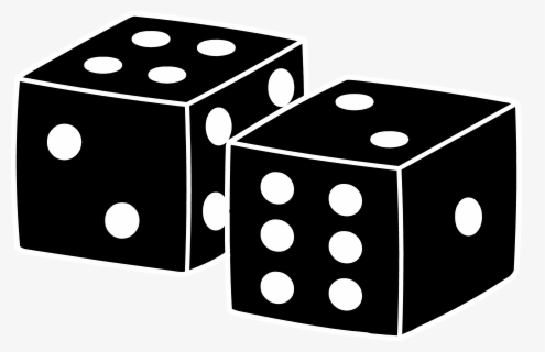 Free Board Game Black And White Clip Art with No Background.