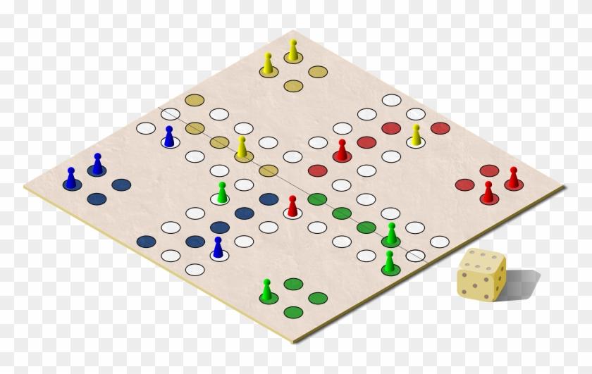 Free Ludo Board Game Clip Art.